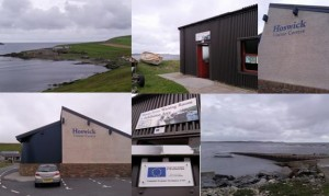 Sandwick: Sandsayre Pier, Hoswick Visitor Centre, Sandsayre Waiting Room
