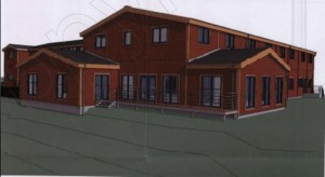 Artists Impression of the new Fair Isle Bird Observatory designed by Synergie Scotland