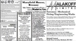Job Vacancies in the Shetland Times